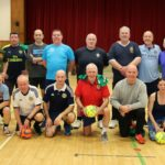 The players who attended one of the recent walking football sessions.