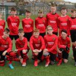 The Pupils U13s side which played against Haldane United.