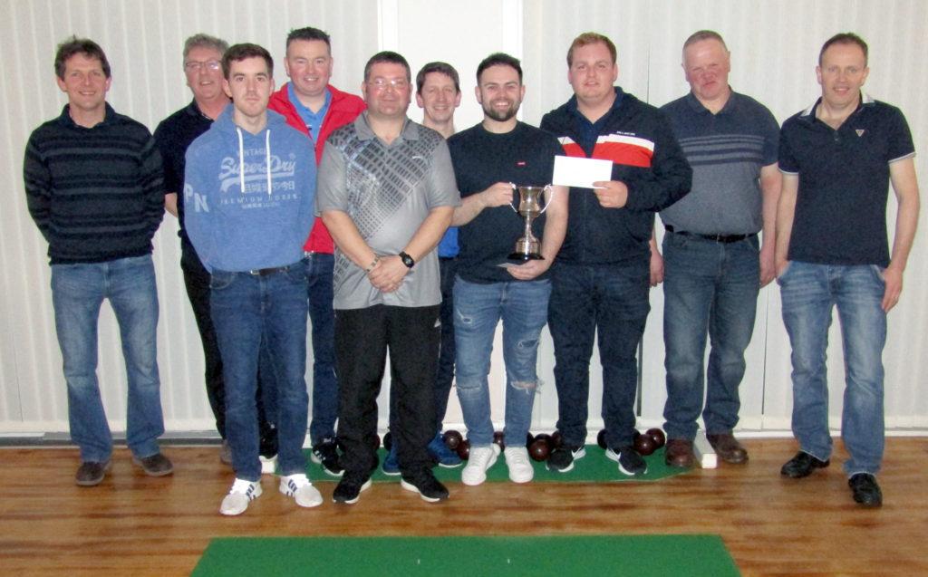 From left: Gavin Semple and Hugh McCorkindale losing semi-finalists; Ryan McLachlan, Bobby Dalziel, Robert Coffield, David Brown, James Ronald, Gavin McLachlan; and Robert Millar and Alistair Graham, losing semi-finalists.