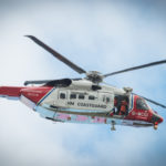 Rescue teams were scrambled to Fort William following an avalanche on Ben Nevis FW Coastguard helicopter 02 no JP Abrightside Photography