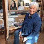 Heather in her studio on Islay. NO F20 Dealbhan Fraoich S4 - Heather in studio