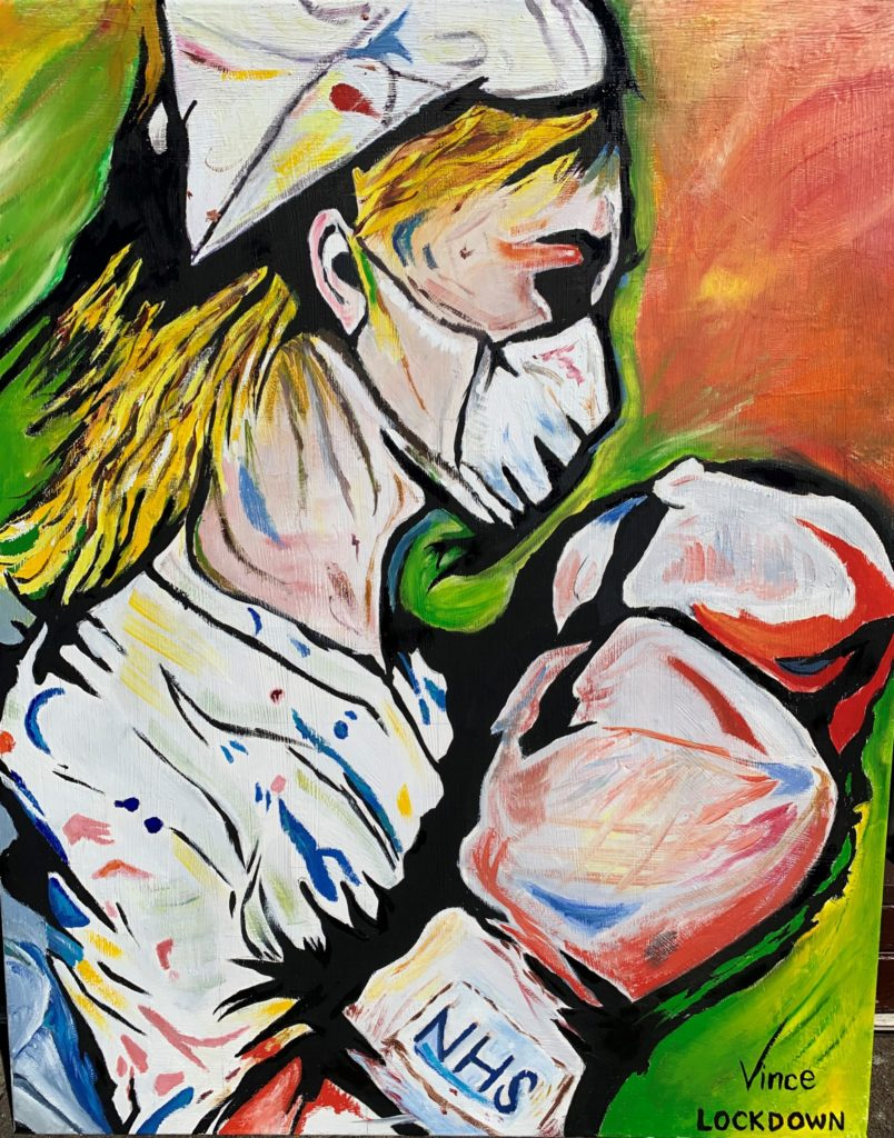 Woman bags knockout NHS painting