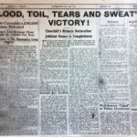 The Campbeltown Courier's front page on May 12 1945.
