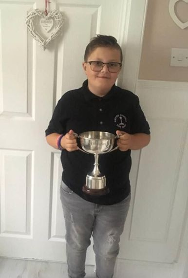 Arran Brown photographed after placing second in the chanter competition at Strachur and District Piping Association's championships last year.