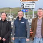 From left: Iain Johnston, Niall Macalister Hall and Nick Fletcher of Explore Kintyre and Gigha.