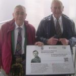 Gordon Caskie, right, and his brother Tom at the unveiling of the plaque in France in honour of their uncle's work during the Second World War.