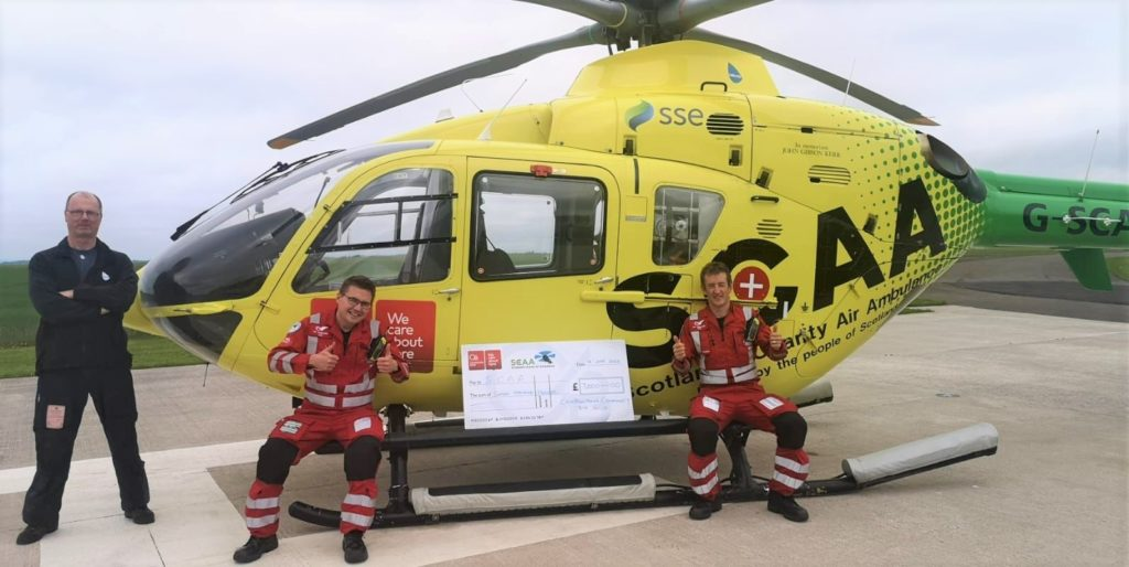 Air ambulance flying high after donation