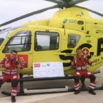 Scotland's Charity Air Ambulance is on cloud nine after receiving a £7,000 boost thanks quiz queen Helen Gilchrist's online lockdown quizzes.