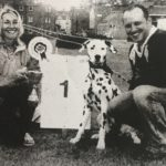 Ten years ago: Monty with owners Louise Farmer and Grieg Ferguson and their prize.