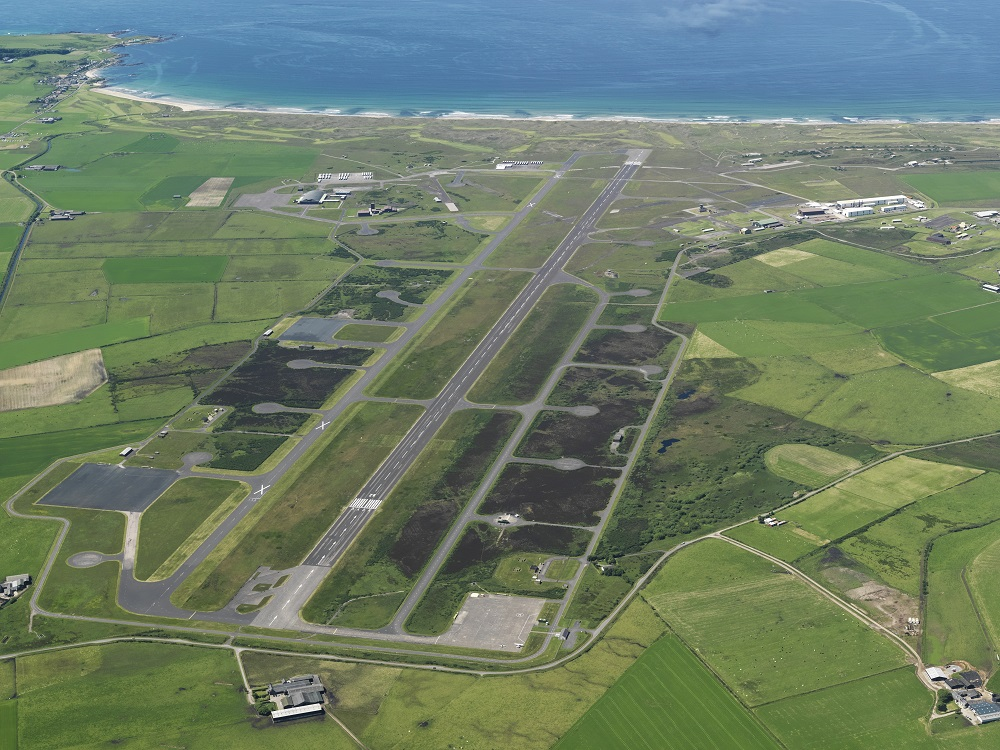 Machrihanish Airbase Community Company Business Park and Campbeltown Airport. Photograph: RCAHMS.