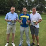 The top three, from left: Bruce MacNab, winner Kenny MacFarlane and Iain Macalister.