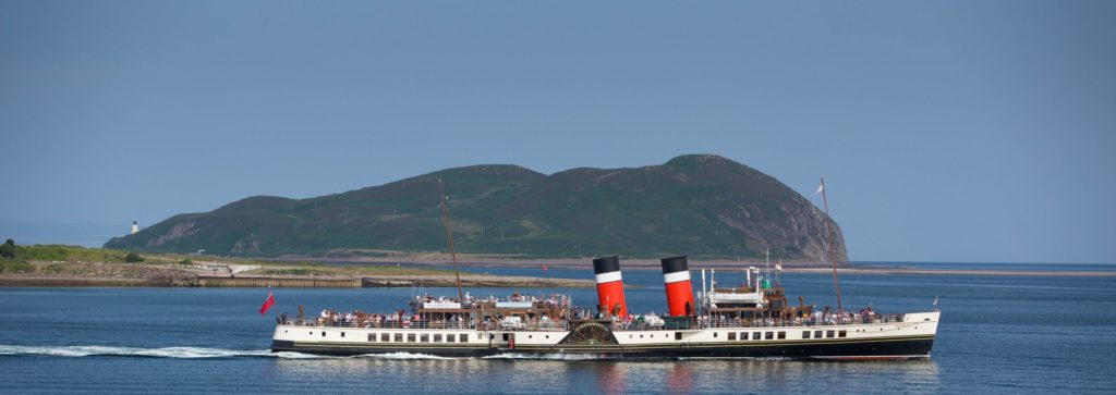 PS Waverley during one of her previous visits to Campbeltown.