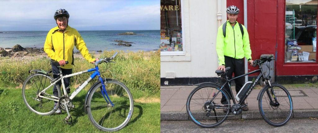 Valerie Nimmo, left, is using pedal power to raise funds for Cancer Research UK, while David Armour, right, is getting on his bike in aid of Diabetes UK.