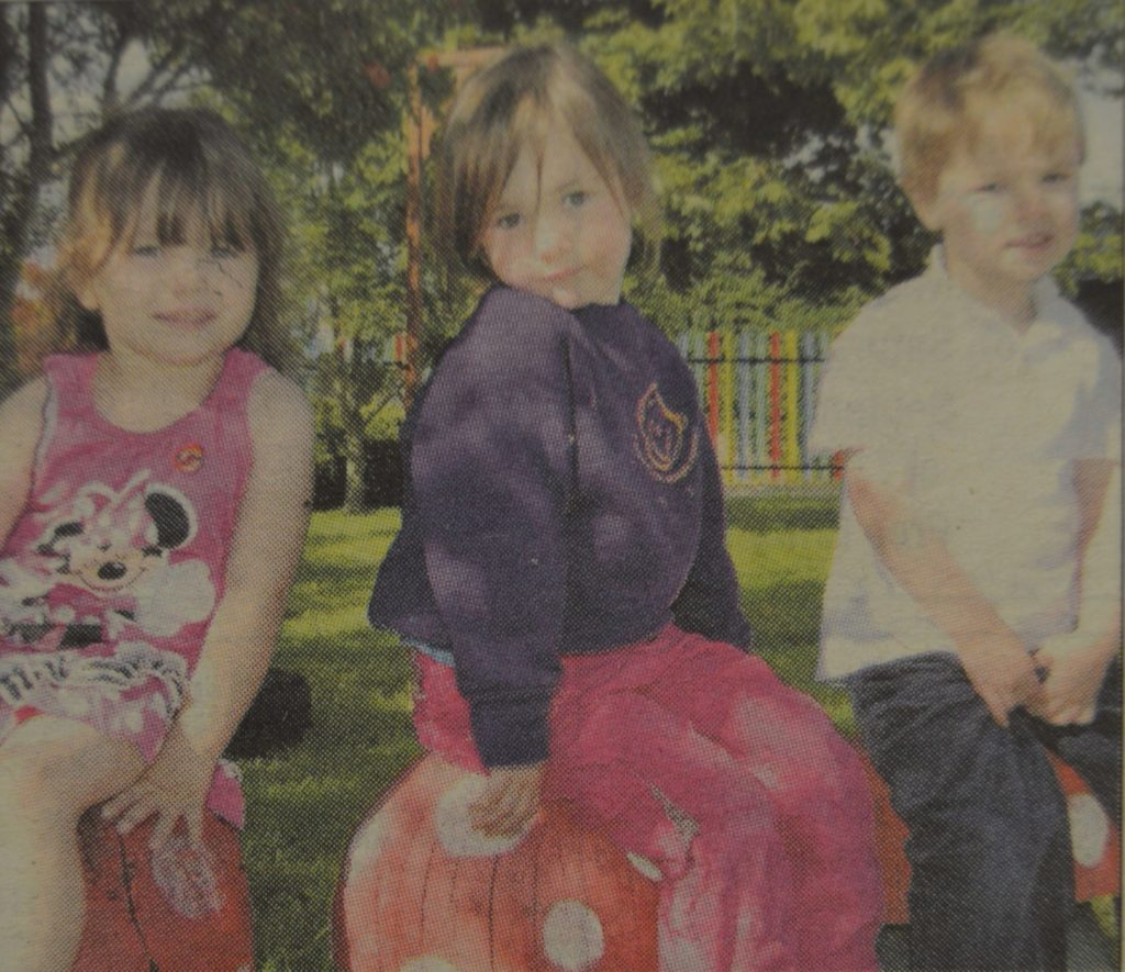 In 2010: Children playing in the revamped garden at Campbeltown Nursery.