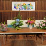 Some of the arrangements created at Campbeltown Flower Club's recent meeting.