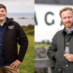 Ardbeg Distillery manager Colin Gordon, left, and Lagavulin Distillery manager Pierrick Guillaume, right.