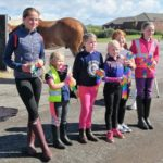 Everybody got a rainbow rosette to celebrate the club's return to equestrian activities.
