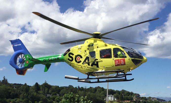 Scotland's Charity Air Ambulance is a regular visitor to Campbeltown.