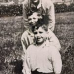 The photograph on the back of the booklet, taken in 1931, shows, from front to back: Duncan, aged six, his brother Daniel, aged eight, and their cousin Duncan, aged 11.