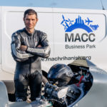Guy Martin visited MACC Business Park. Photograph: Raymond Hosie and MACC.