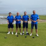 The winning team, from left: Alan Glendinning, Kevan Gilchrist, Graham Gilchrist and Andrew Robertson.