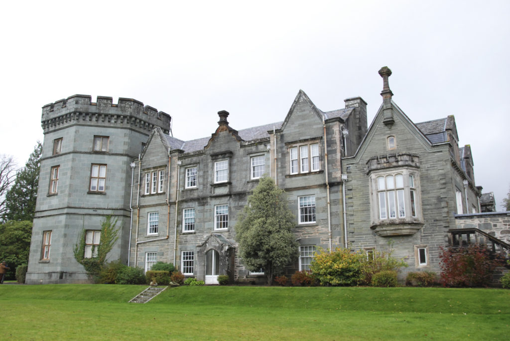 Kilmory Castle, in which the candelabra once resided, is now Argyll and Bute Council's headquarters.