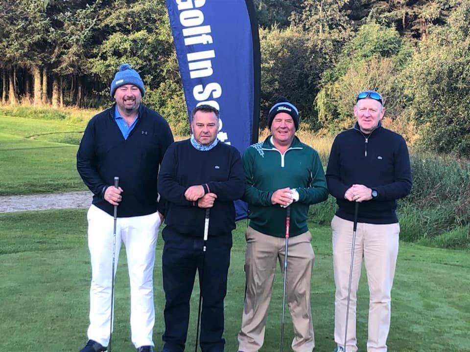 Robbie's Reindeer members, from left: Ryan McGlynn, Robbie Wilson, Jim Hunter and Bruce MacNab who stood in for Ari Techner.