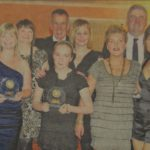 In 2010: All the award winners at the South Kintyre Sports Awards ceremony with David Laing of the Scottish Association of Local Sports Councils.