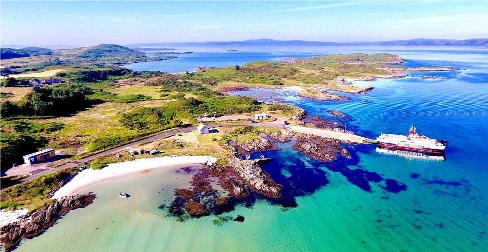 The Gigha camping and motorhome site will be very close to the ferry slip.