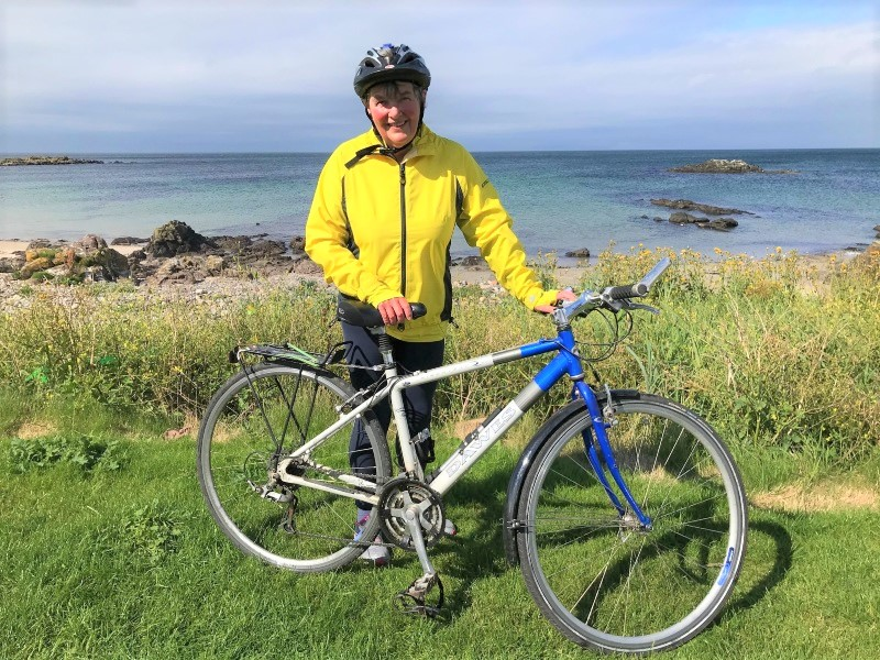 Valerie's cycling challenge total