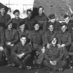 A prisoner of war working party photographed at Stalag XXB camp in Poland in 1943. Neil can be seen in the middle row, first on the left. He is joined by several fellow Campbeltonians: Alex McKinven, his friend and future best man, back row, first on the left; Duncan McLachlan, back row, fourth from the right; and Finlay Huie, back row, first on the right.