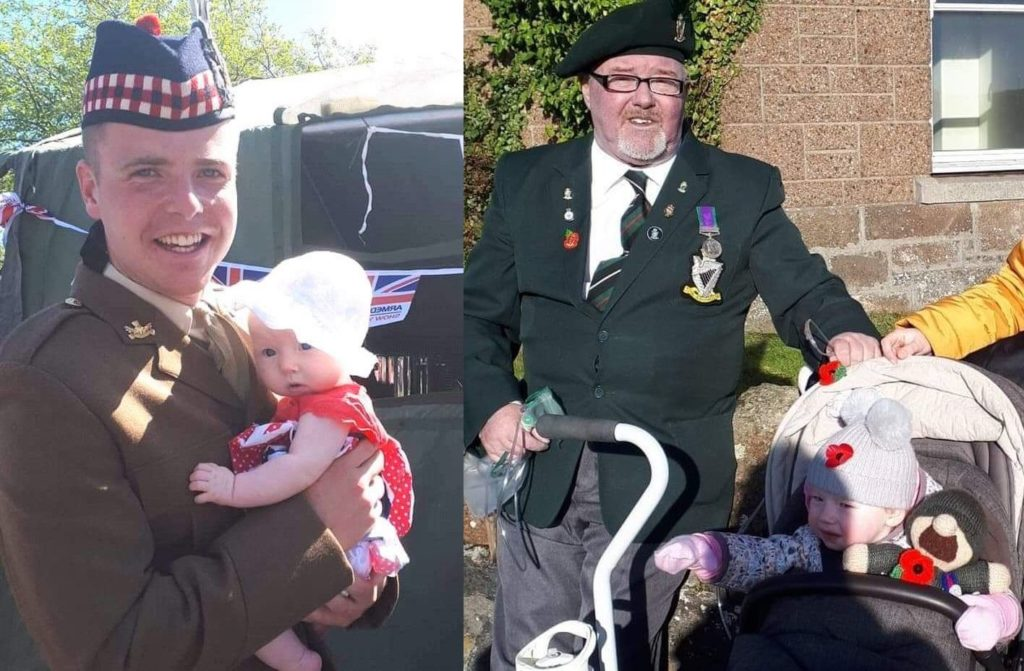 Emelie's sponsored walk for soldier grandfather and uncle