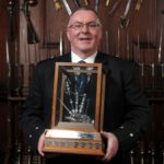 Willie MacCallum, winner of the March, Strathspey and Reel section at the 2020 Glenfiddich Piping Championship. Photograph: Derek Maxwell.