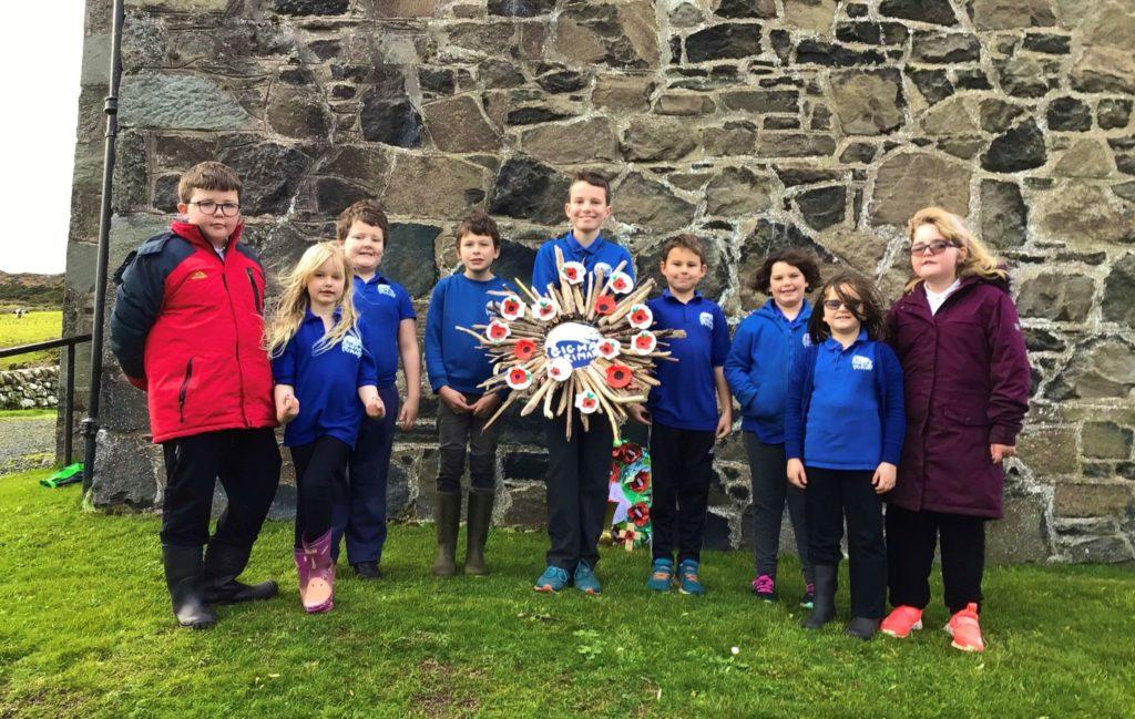 District children commemorate Remembrance Day