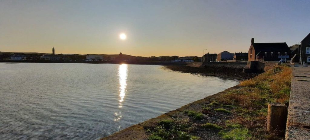 This week's photograph, showing the view of Campbeltown's centre from Dalintober pier, was sent in by Kimberley Robertson.
