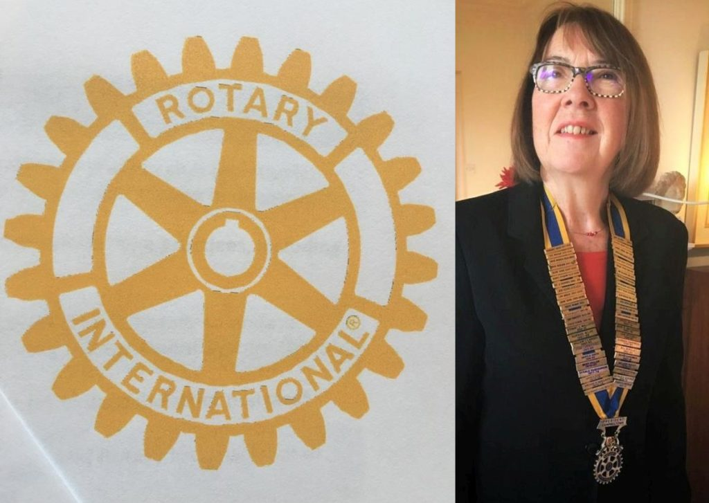 Pat Healey, president of the Rotary Club of Campbeltown.