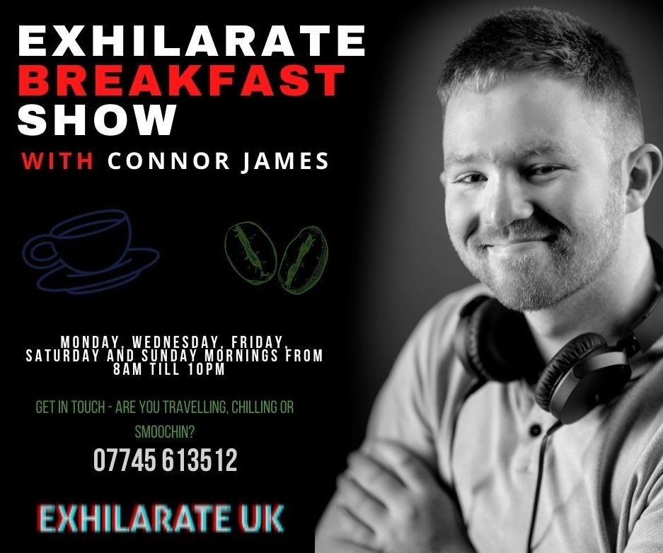 Connor Chinn has landed a presenting slot on ExhilarateUK Radio.