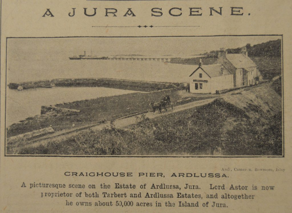 In 1920: A photograph of Jura with an accompanying caption.