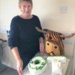 Kate McKay with her special OT-themed retirement cake.