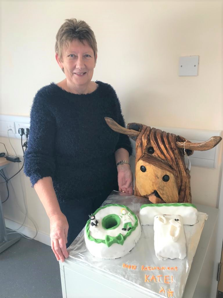 OT assistant Kate steps down after 29 years