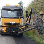 An Argyll and Bute Council Jetpatcher at work on the B842 in 2016.