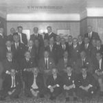 Neil MacLean and the men of the Campbeltown-based 201 Anti-Tank Battery, which served alongside the 51st Highland Division in France in 1940, photographed at a reunion in Campbeltown around 1960.