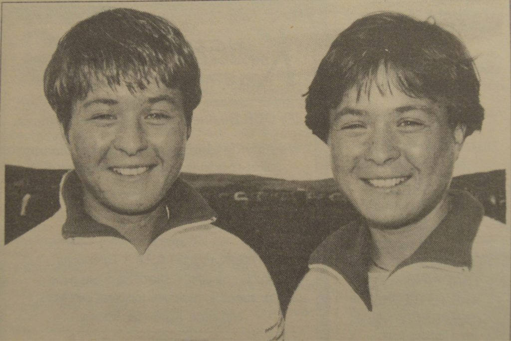 In 1996: Campbeltown twins Donna and Fiona Robertson have received grants of £143 each from Argyll and Bute District Council to help meet the costs of attending the British Judo Championships.
