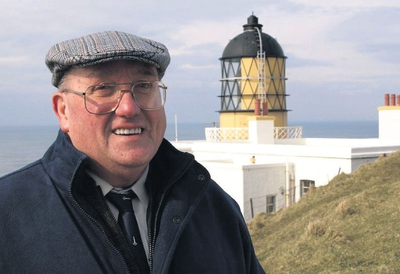 In 2011: Former Lighthouse keeper Hector Lamont of Campbeltown at the Mull of Kintyre Lighthouse.
