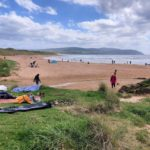 Westport was packed with visitors, both on the beach and in the water, on Sunday.