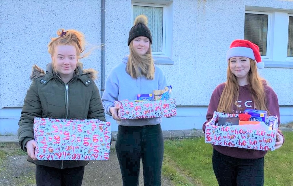 Youngsters give the gift of kindness