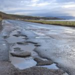 The stretch of road between Glenbarr and Bellochantuy is one of the areas causing concern for drivers due to the deterioration of the road surface in recent weeks.