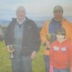 In 2011: The ploughing match's main winners: Gavin Reid with grandson Ben, Willie Reid, Ian McKendrick with daughter Grace, and Thomas Ralston.