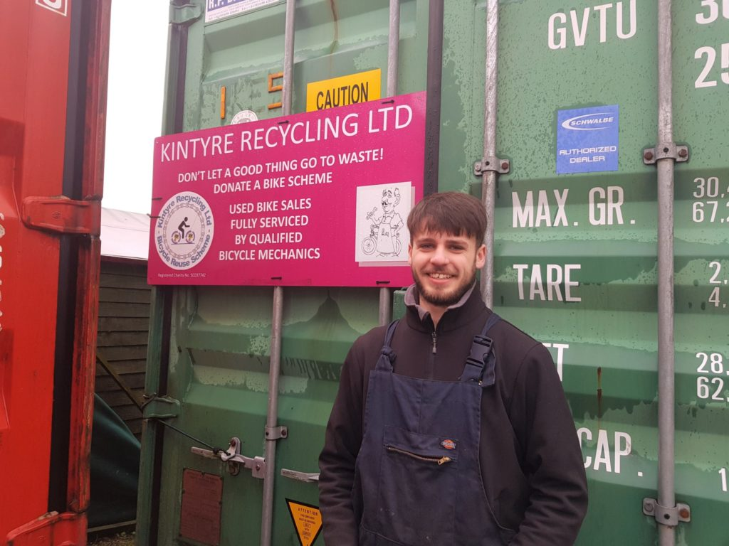 James McNairn, Kintyre Recycling Bike Project coordinator.
