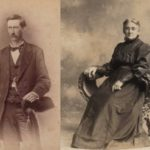 Jim's great-grandfather William McTaggart, grandson of the William who emigrated from Campbeltown in 1822, left, and his wife, Ida, right.